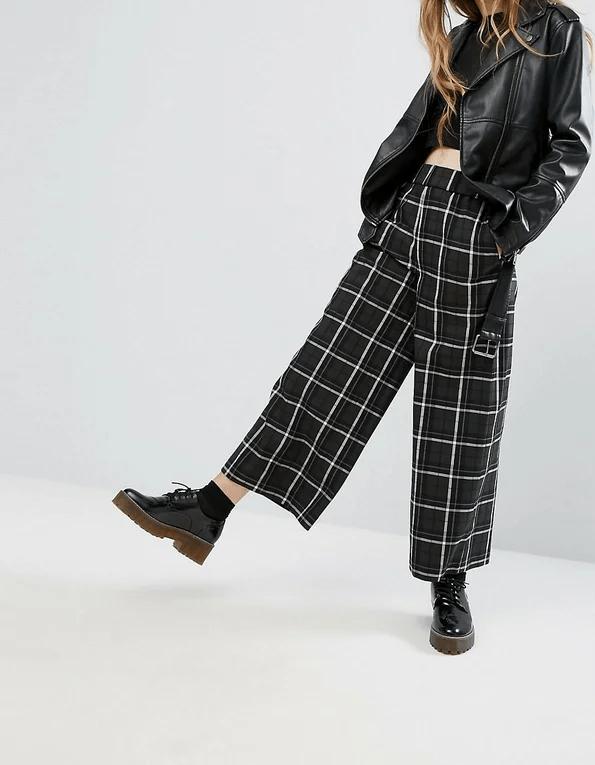 C чем носить брюки в клетку? Женские модные луки — весна 2020
