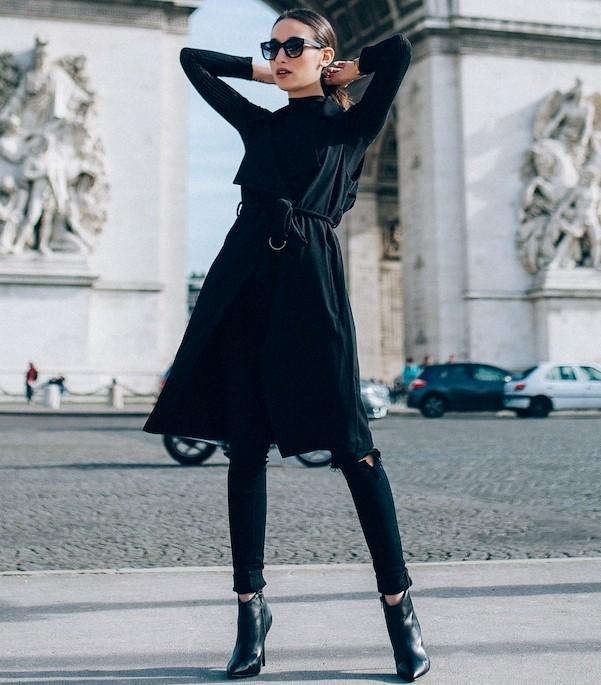 Модное сочетание: платье и джинсы