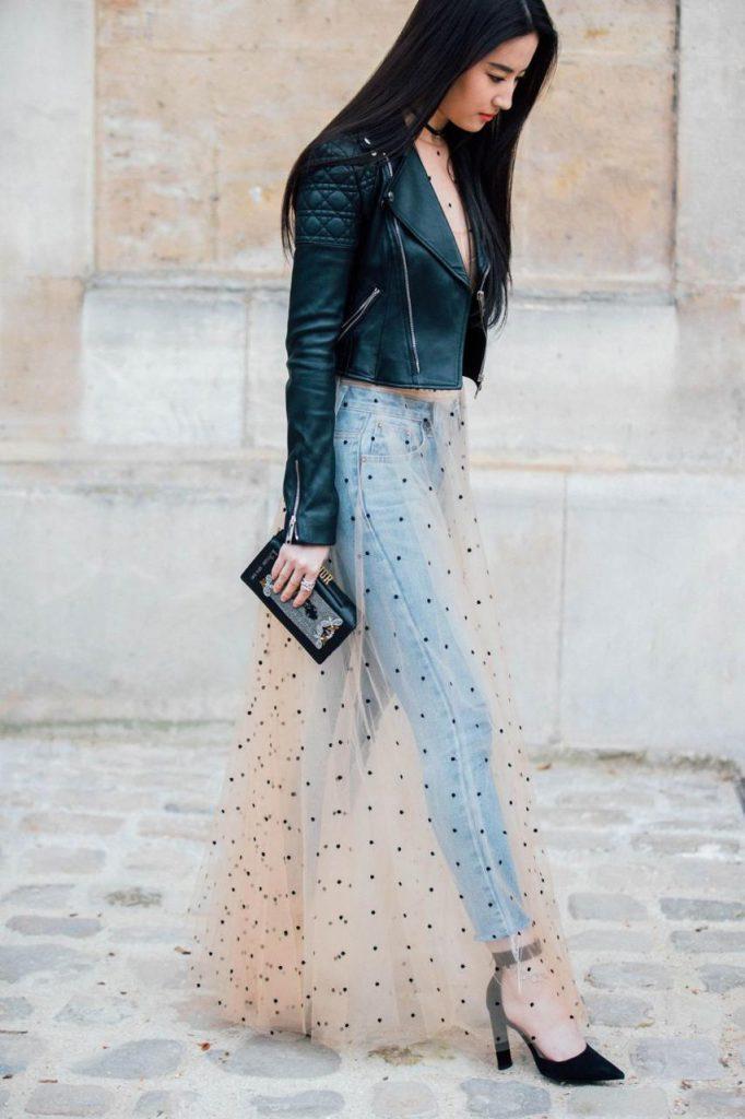 Брюки сигареты с кружевными ажурным платьем