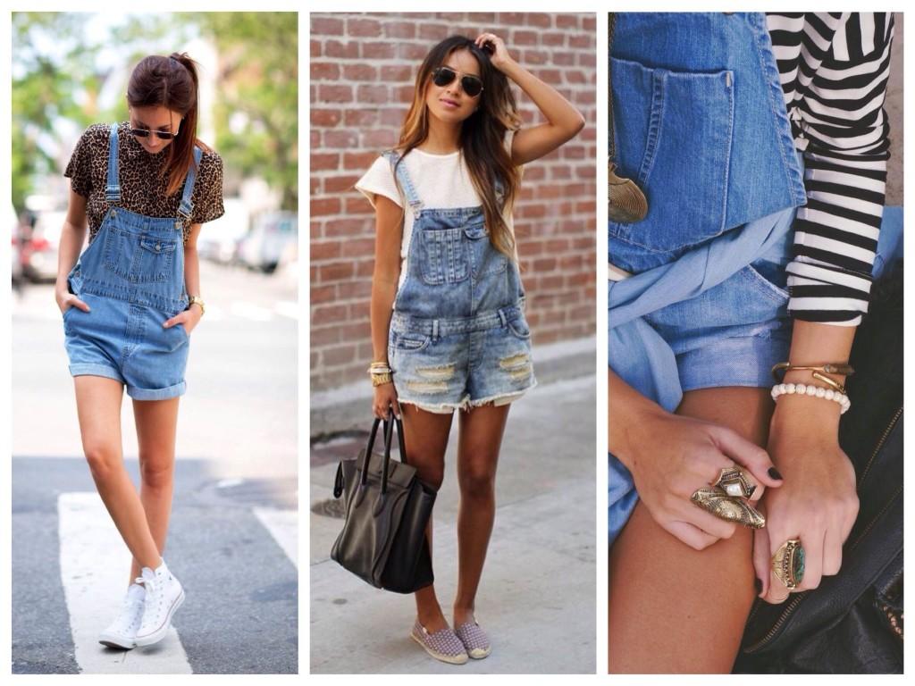 Образы с джинсовым комбинезоном