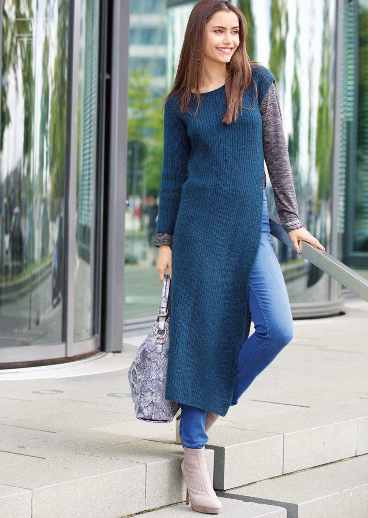 Платья-свитер с брюками «сафари»