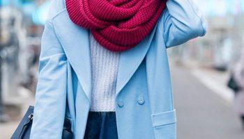 Как подобрать шарф к пальто: правила стиля